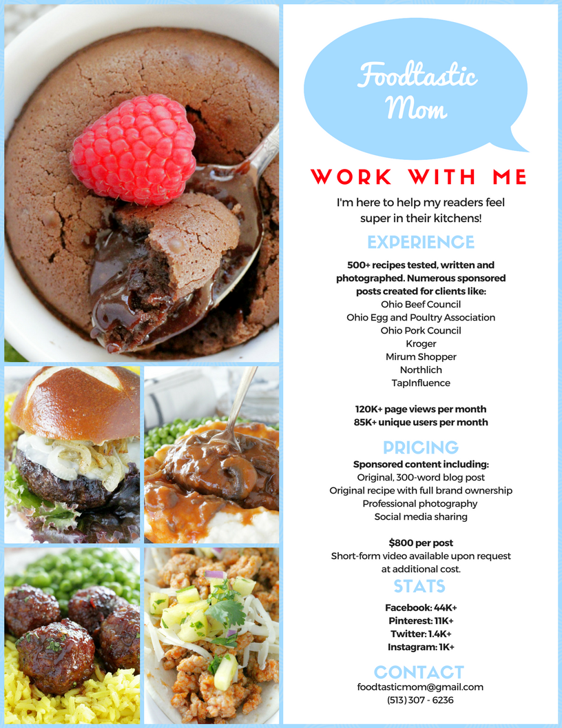 Work with Me | Foodtastic Mom