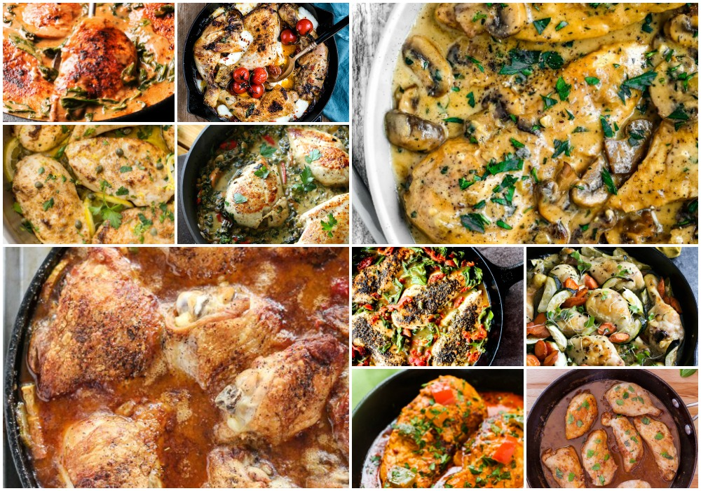 75 Easy Chicken Recipes | Foodtastic Mom - SKILLETS