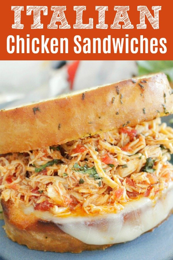 Slow Cooker Italian Chicken Sandwiches | Foodtastic Mom #italianchicken #chickensandwichrecipes #slowcookerrecipes #chickenrecipes #easydinner via @foodtasticmom