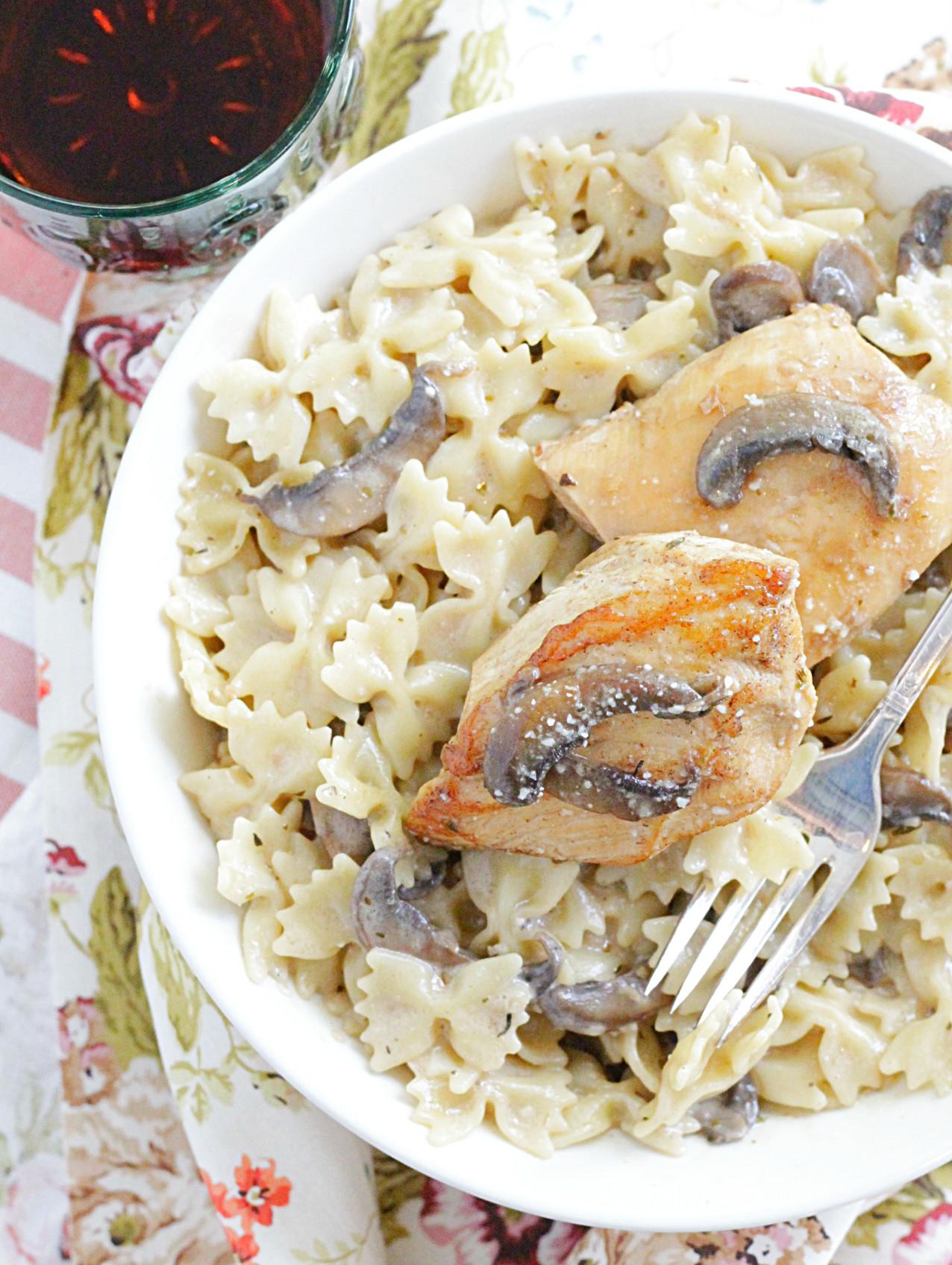 creamy chicken marsala with mascarpone cheese