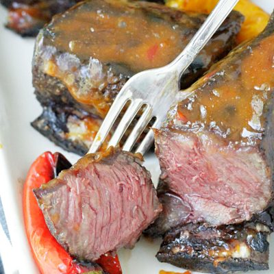 Grilled Short Ribs with Asian Peanut Sauce