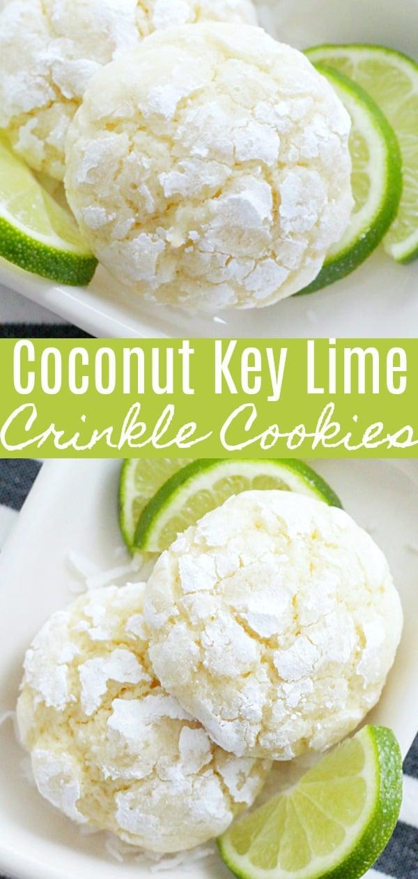 Coconut Key Lime Cookies | Foodtastic Mom #cookies #cookierecipes #keylime #coconutkeylime
