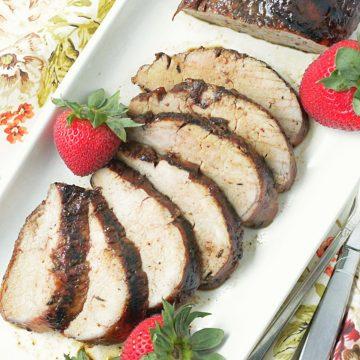 grilled strawberry balsamic pork tenderloin