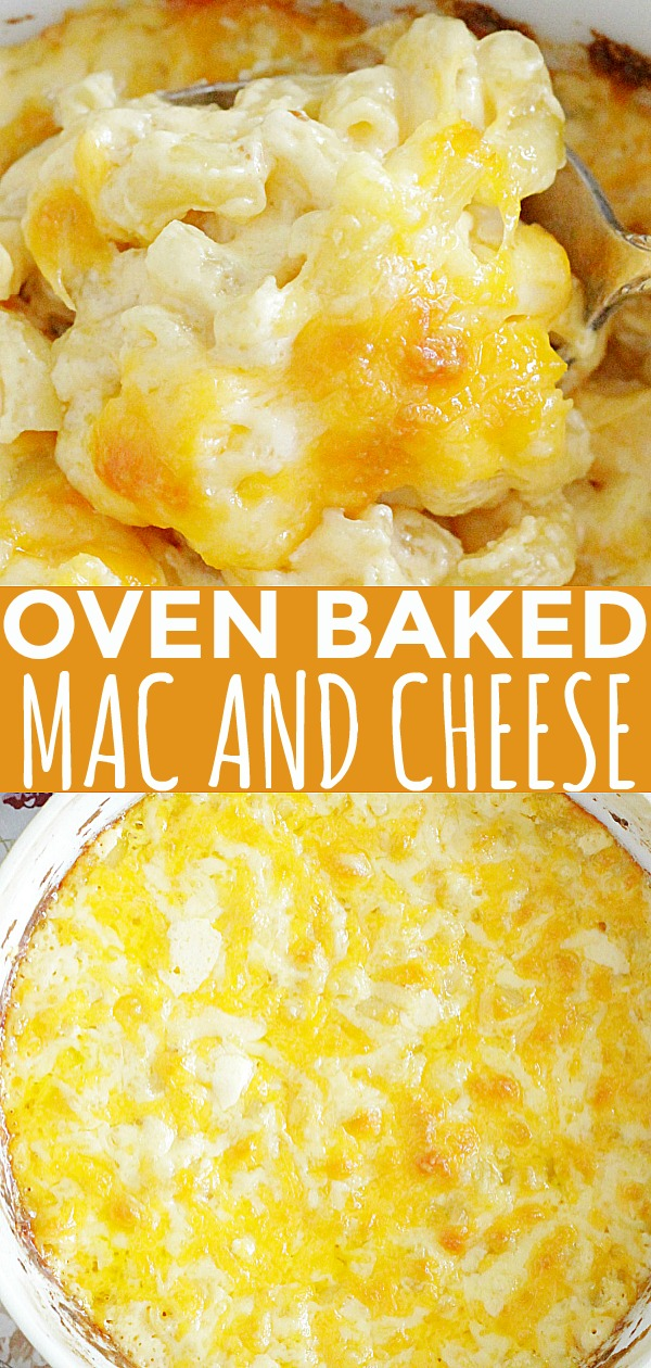 Oven Baked Macaroni and Cheese (no boiling required) #macaroniandcheese #macaroniandcheesebaked