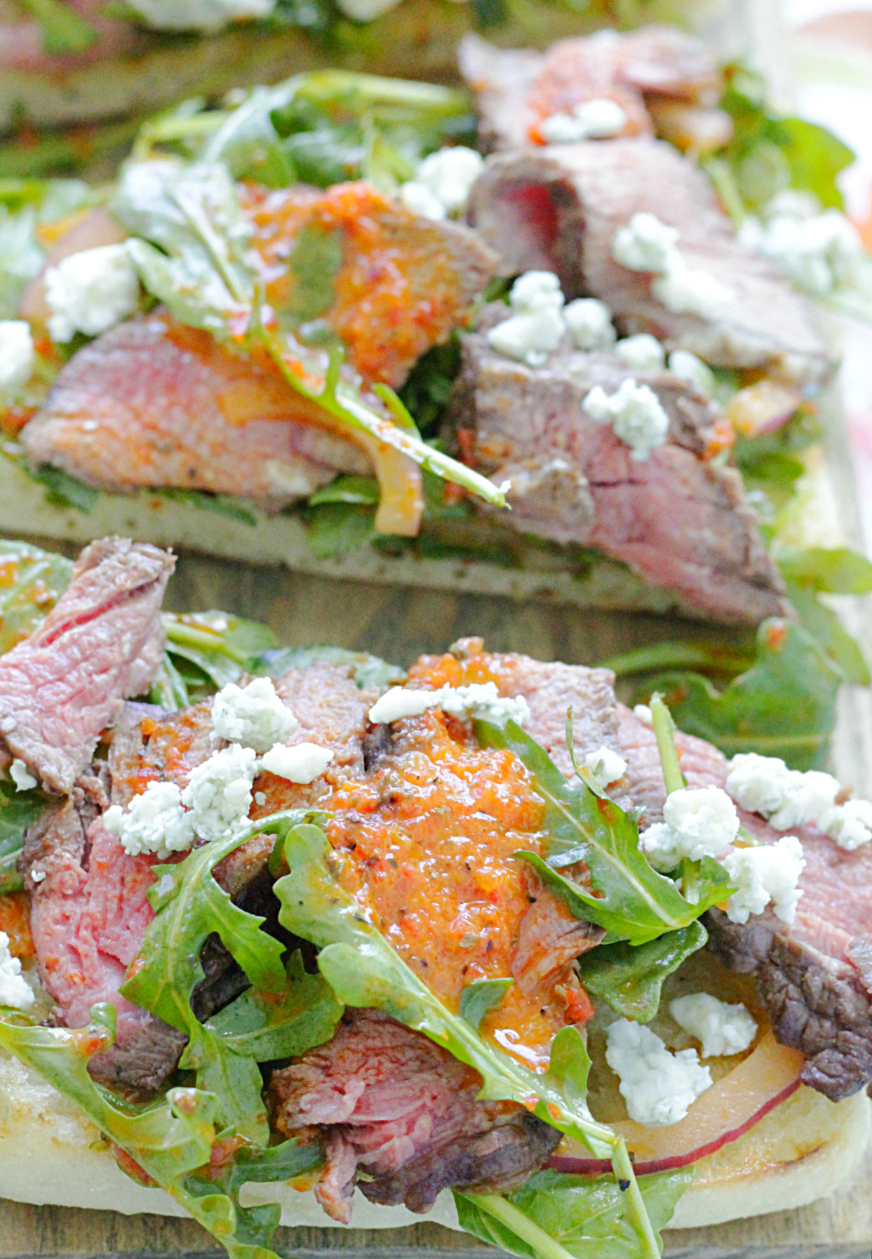 open face steak sandwich