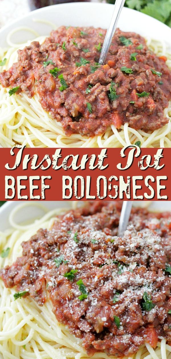 Instant Pot Beef Bolognese Pasta Sauce | Foodtastic Mom #ad #ohiobeef #instantpot #instantpotrecipes #beefrecipes #beefbolognese