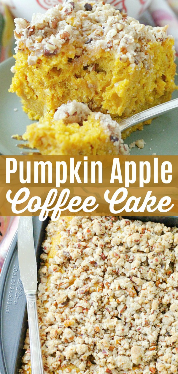 Pumpkin Apple Coffee Cake | Foodtastic Mom #cake #cakerecipes #coffeecake #pumpkin #pumpkinrecipes