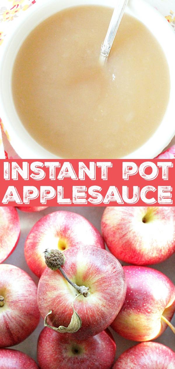 Instant Pot Applesauce | Foodtastic Mom #instantpot #instantpotrecipes #applerecipes #applesauce #instantpotapplesauce