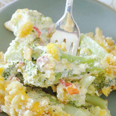 Cheesy Pimento Broccoli Casserole