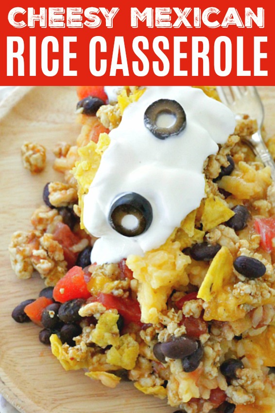 Cheesy Mexican Rice Casserole   Foodtastic Mom #mexicanrice #ricerecipes #casserole #casserolerecipes #mexicanrice