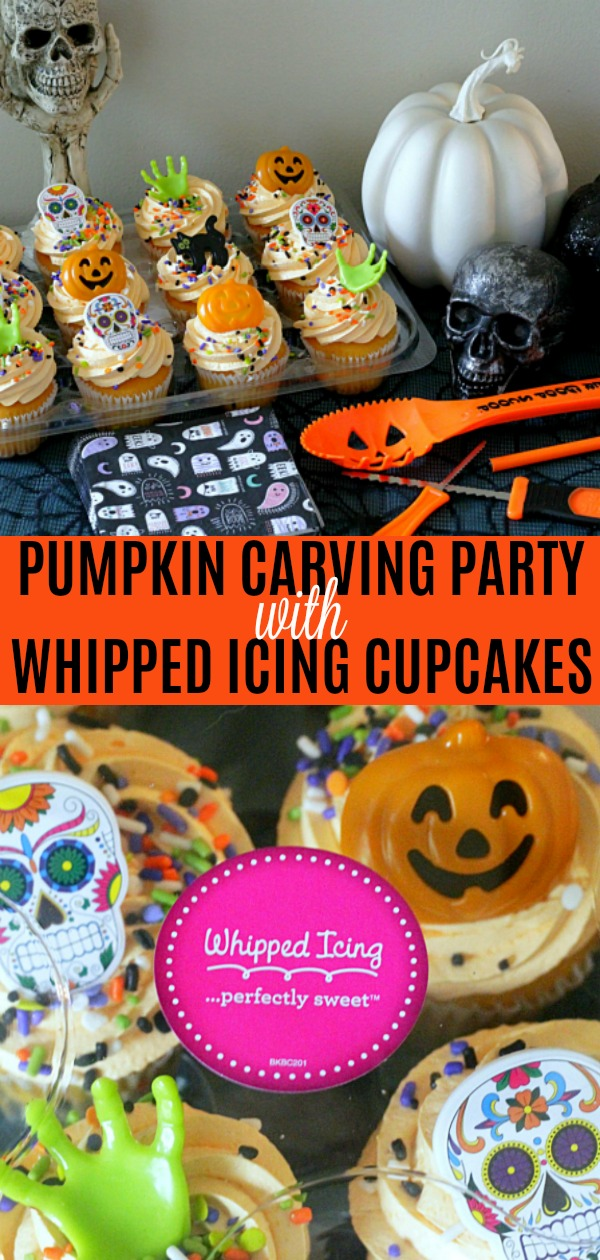 Pumpkin Carving Party with Whipped Icing Cupcakes | Foodtastic Mom #ad #askforwhipped