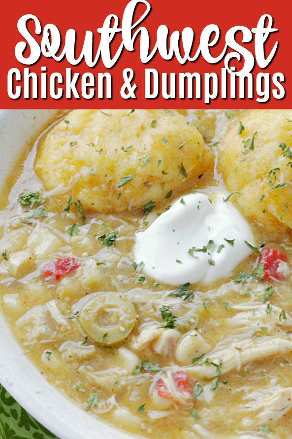 Southwest Chicken and Dumplings | Foodtastic Mom #chickenanddumplings