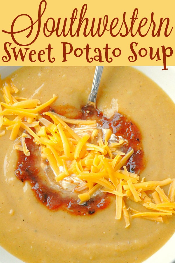 Southwestern Sweet Potato Soup | Foodtastic Mom #souprecipes #potatosoup