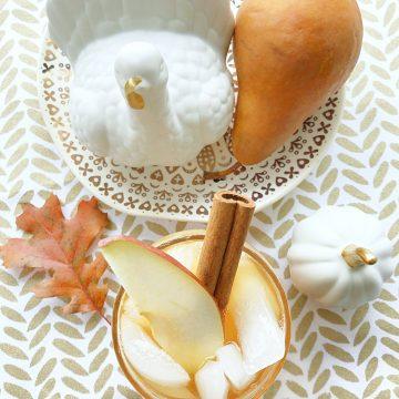 Spiced Pear Tea Fizz   Foodtastic Mom #ad #CelebrateWithMilos