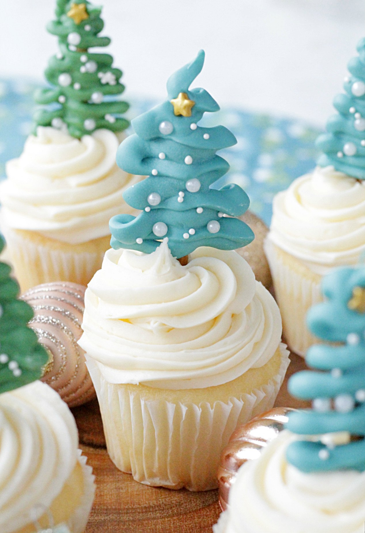 Christmas Tree Cupcake Toppers Foodtastic Mom