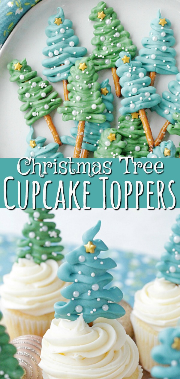 Christmas Tree Cupcake Toppers | Foodtastic Mom