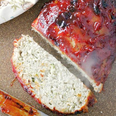 turkey meatloaf on cutting board