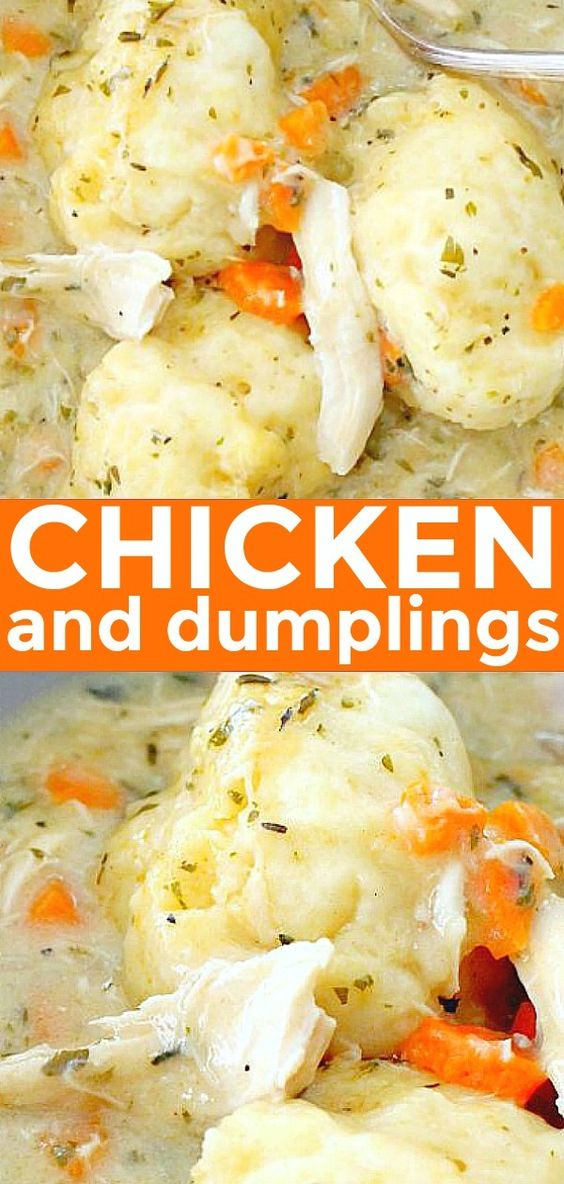 Simply the BEST recipe for Homemade Chicken and Dumplings. Hundreds of positive reviews! #chickenanddumplings
