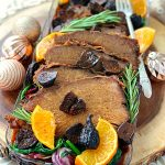 Slow Cooker Rump Roast – with Prosciutto and Figs