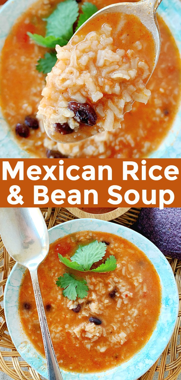 Mexican Rice and Bean Soup | Foodtastic Mom #mexicanrice #souprecipes