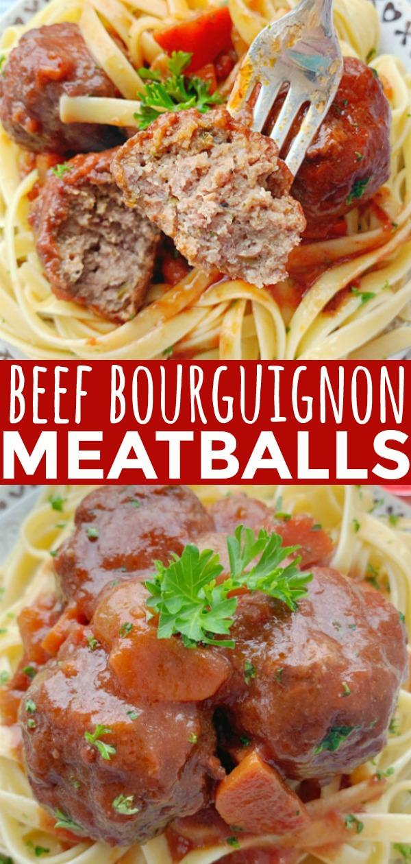 Beef Bourguignon Meatballs | Foodtastic Mom #beefbourguignon #meatballs #ohiobeef #ad