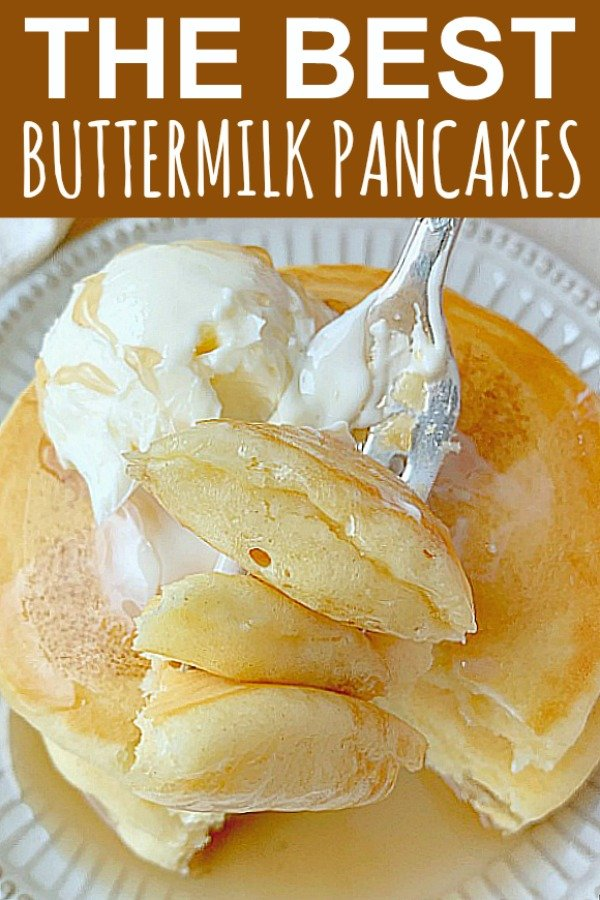The Best Buttermilk Pancakes | Foodtastic Mom #buttermilkpancakes #pancakes #pancakerecipe #breakfastrecipes via @foodtasticmom