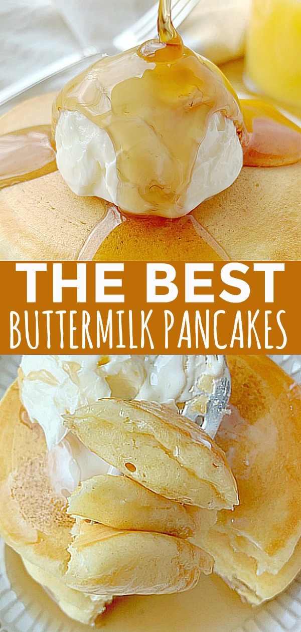 The Best Buttermilk Pancakes | Foodtastic Mom #buttermilkpancakes #pancakes