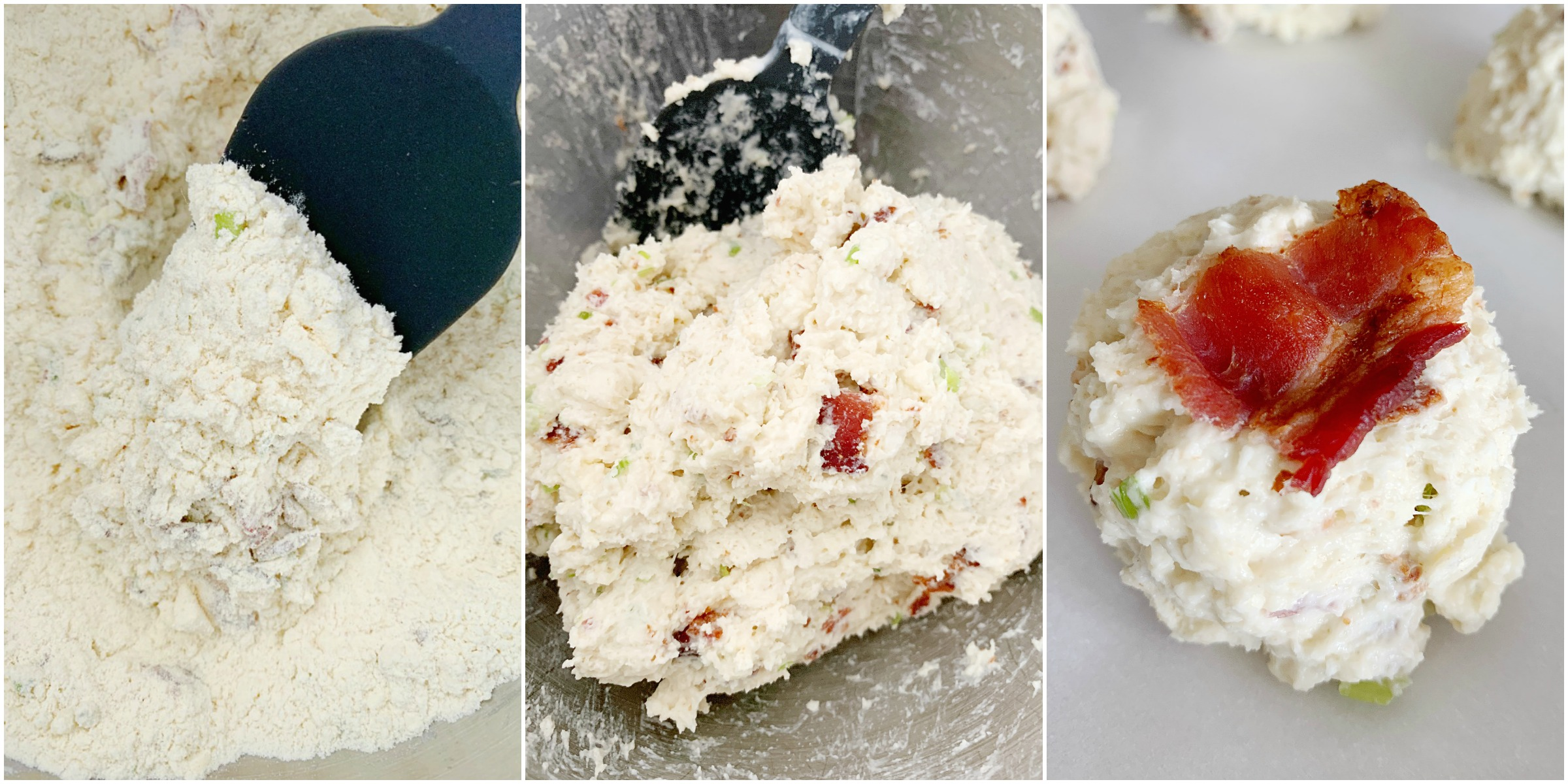 blue cheese bacon scones collage