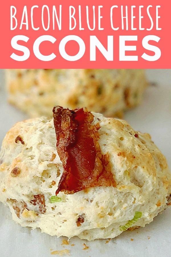 Bacon Blue Cheese Scones   Foodtastic Mom #scones #sconeseasy