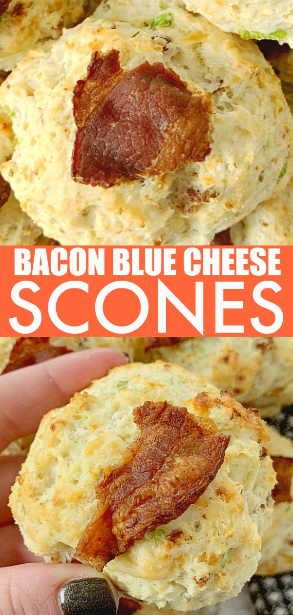 Bacon Blue Cheese Scones | Foodtastic Mom #scones #sconeseasy