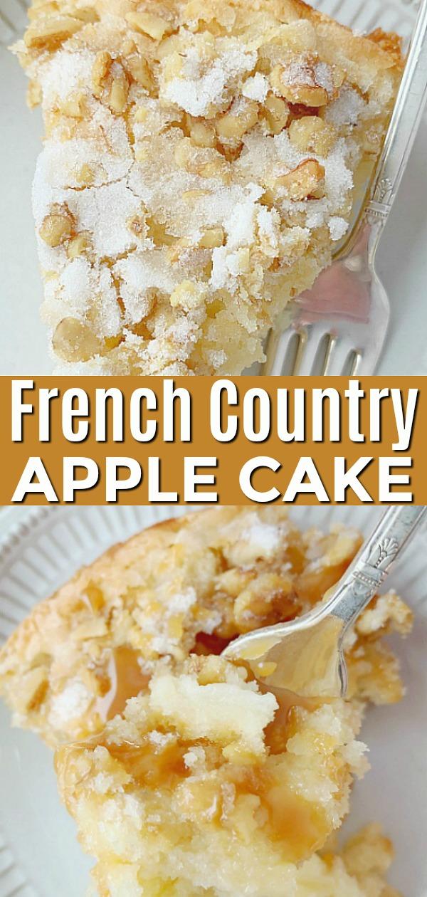 French Country Apple Cake | Foodtastic Mom #frenchapplecake #cakerecipes