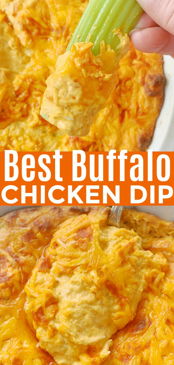 The Best Buffalo Chicken Dip | Foodtastic Mom #buffalochickendip #diprecipes