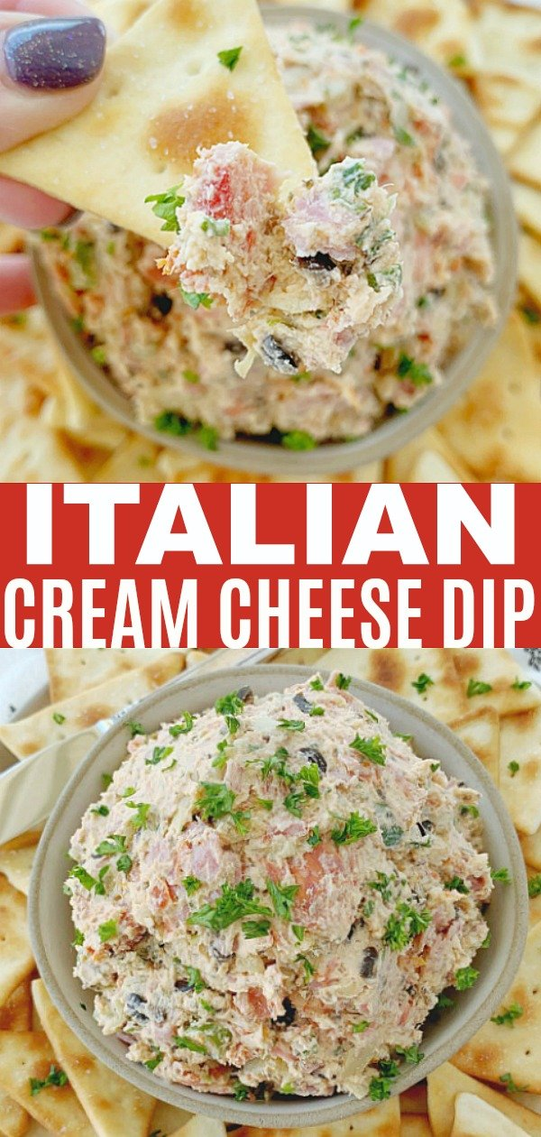 Italian Cream Cheese Dip | Foodtastic Mom #diprecipes #cheesespread