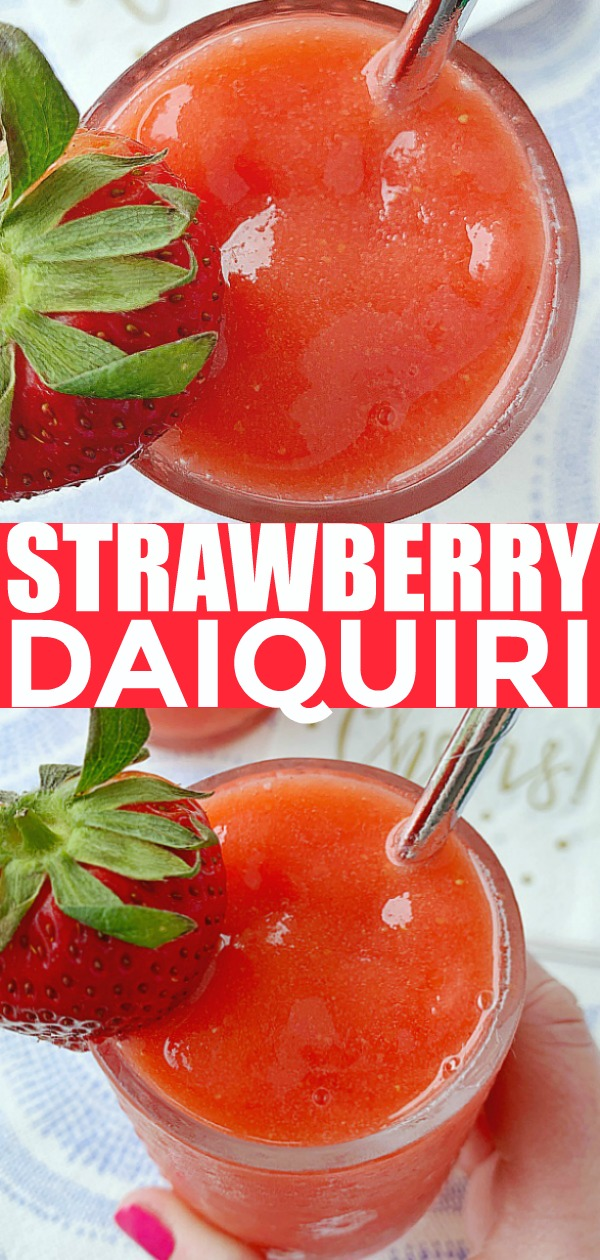 Strawberry Daiquiri | Foodtastic Mom #strawberrydaiquiri #daiquirirecipe