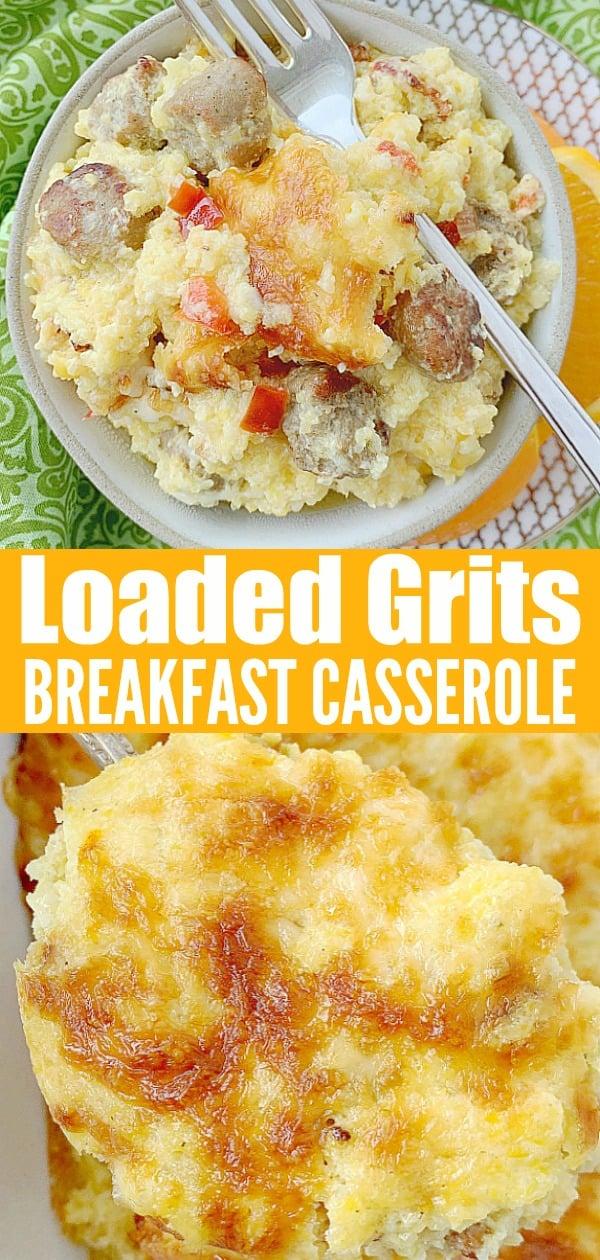 Loaded Grits Breakfast Casserole | Foodtastic Mom #grits #gritscasserole