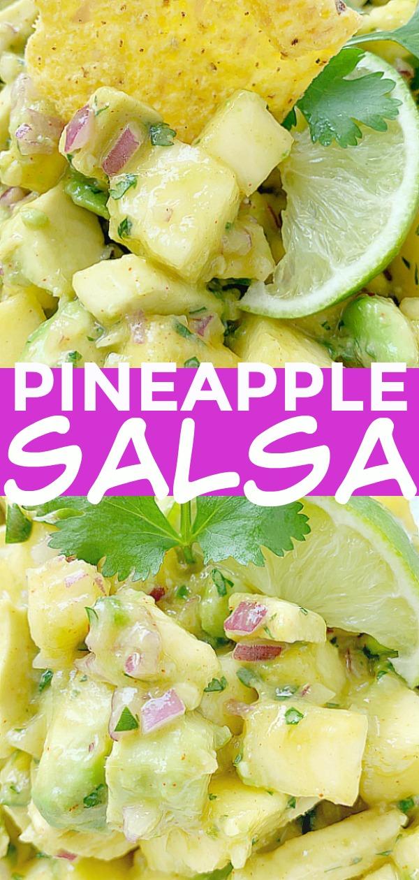 Pineapple Salsa | Foodtastic Mom #pineapplesalsa #pineapplesalsarecipeeasy