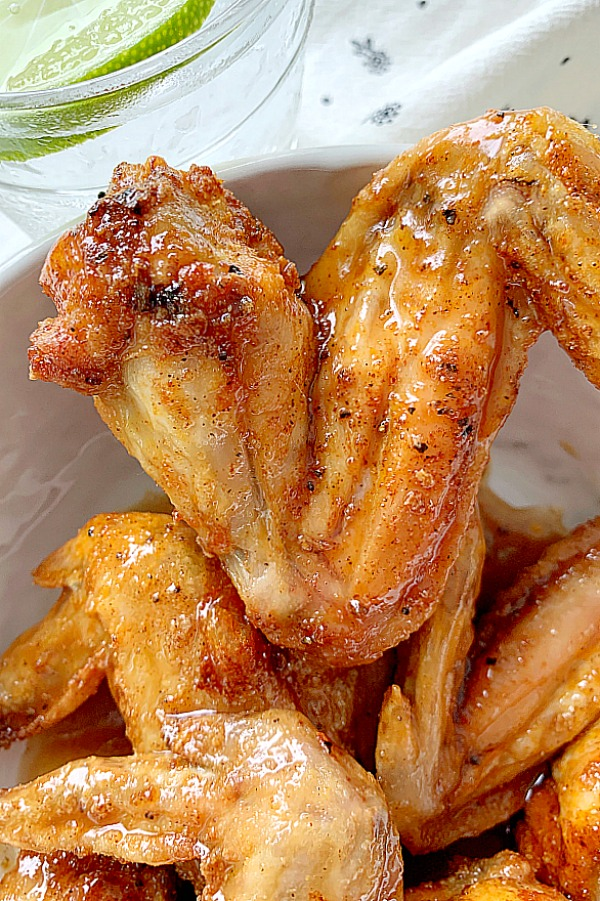 air fryer wings in a bowl