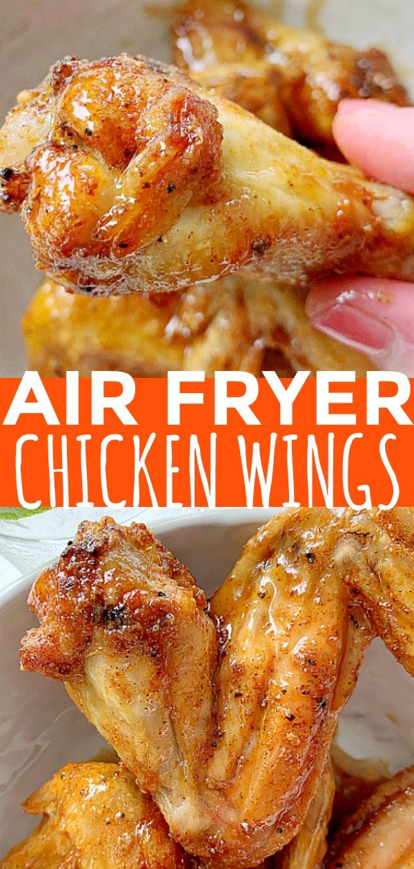 Air Fryer Chicken Wings | Foodtastic Mom #airfryerrecipes #airfryerchickenwings #chickenwingsinairfryer