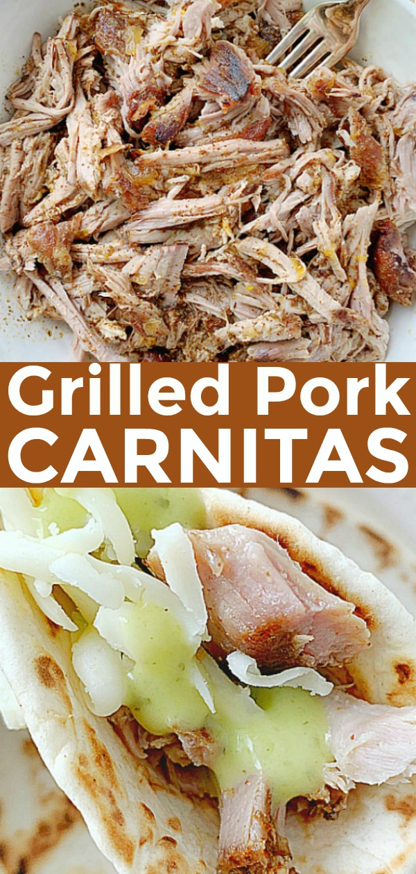 Pork Carnitas on the Grill | Foodtastic Mom #porkcarnitas #ad #ohpork