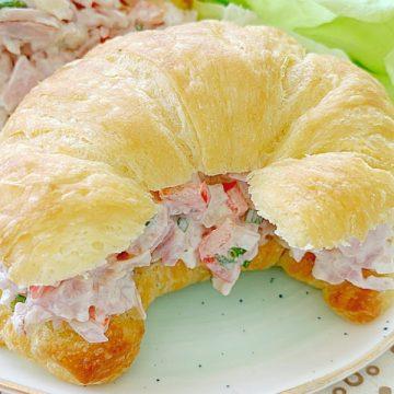 confetti ham salad sandwich on a plate