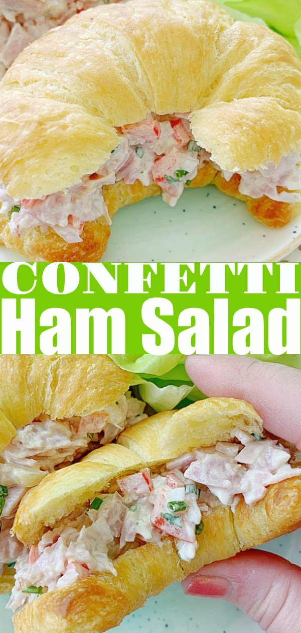Confetti Ham Salad | Foodtastic Mom #hamsaladrecipe #hamsalad