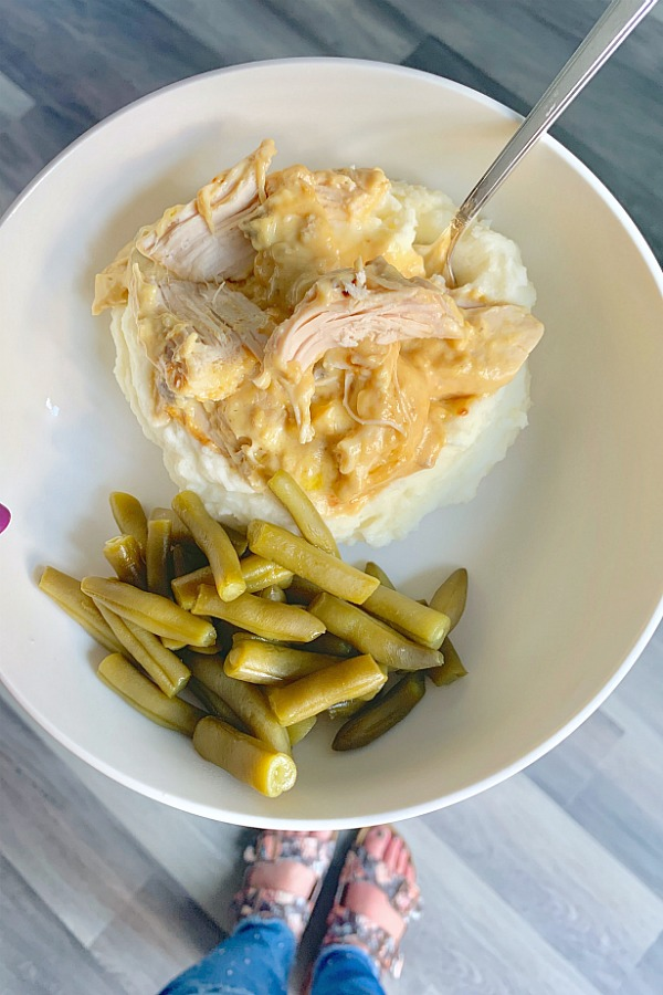 basic chicken on a plate with green beans
