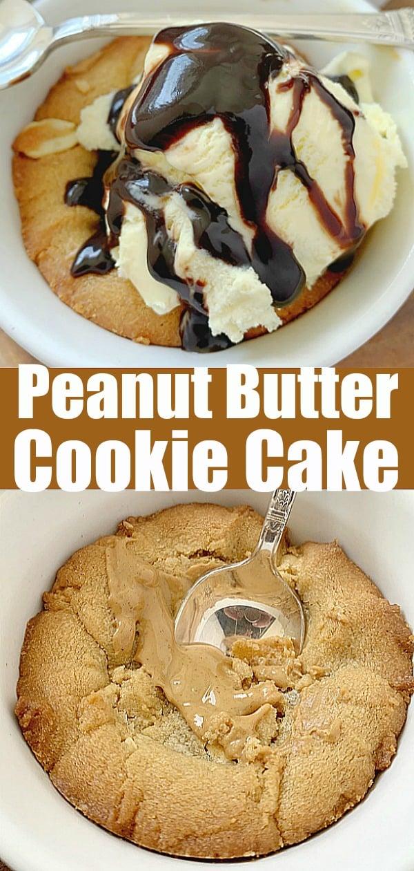 Peanut Butter Cookie Cake | Foodtastic Mom #peanutbuttercookies #cookiecake