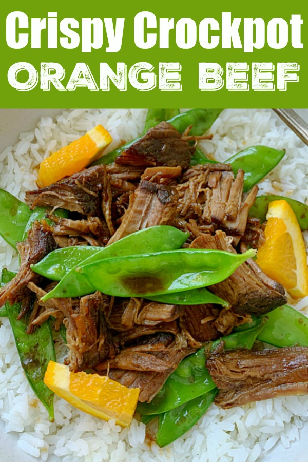Crockpot Crispy Orange Beef | Foodtastic Mom #ohbeef #ad #crockpotrecipes #beefrecipes #fakeouttakeout #slowcooker via @foodtasticmom