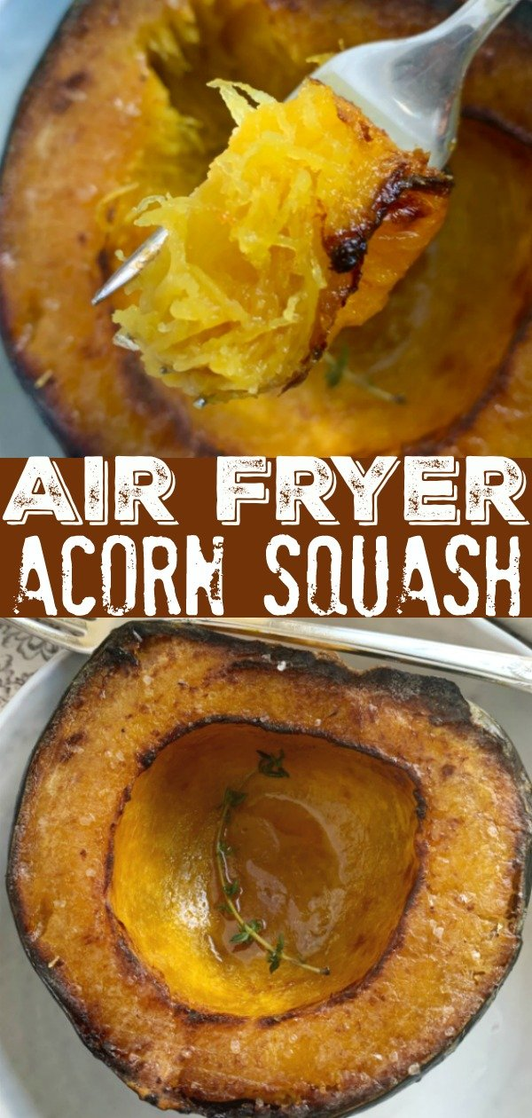 Air Fryer Acorn Squash | Foodtastic Mom #airfryerrecipes #acornsquash #airfryersquash #squashrecipes via @foodtasticmom