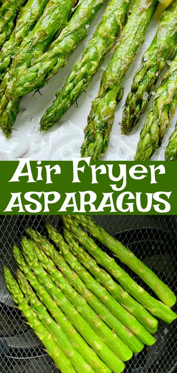Air Fryer Asparagus | Foodtastic Mom #airfryerrecipes #asparagusrecipes #airfryerasparagus via @foodtasticmom