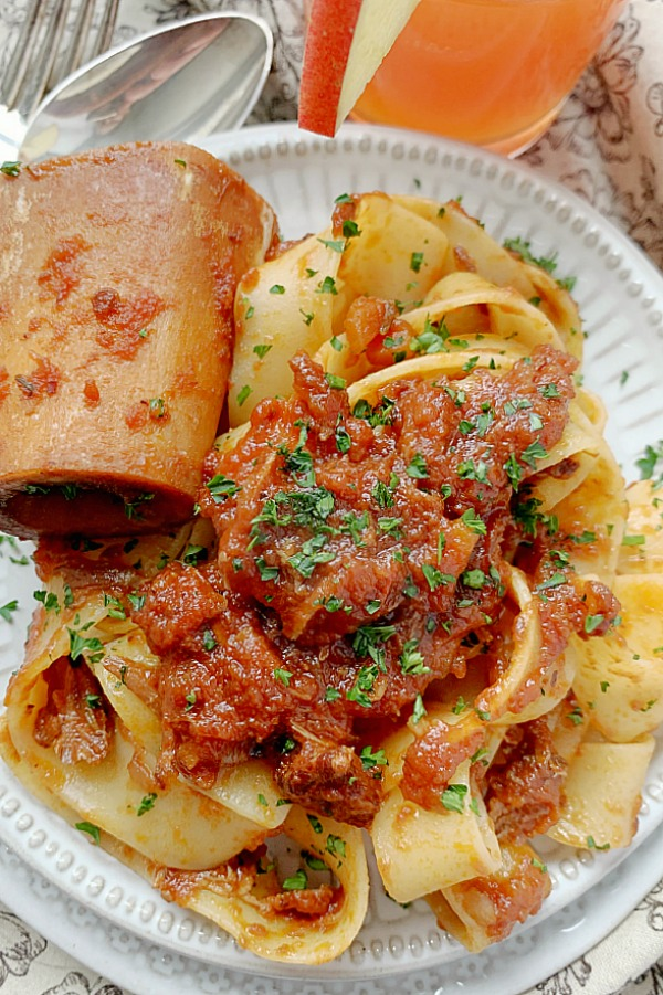 osso buco slow cooker ragu on a plate