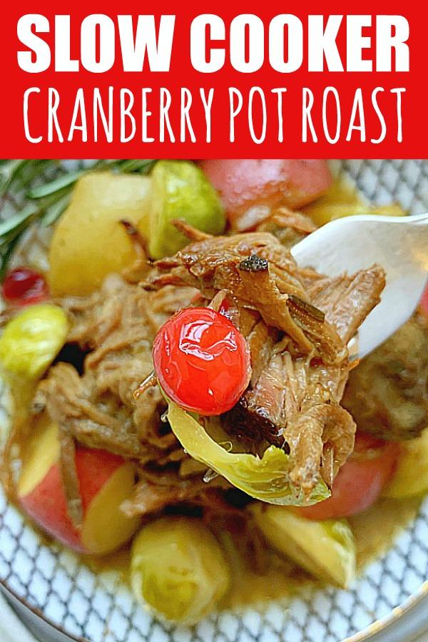 Slow Cooker Cranberry Pot Roast | Foodtastic Mom #ad #ohiobeef #slowcookerrecipes #potroast