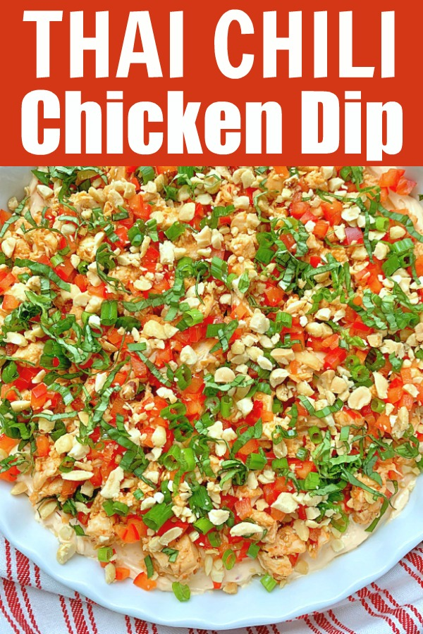 Thai Chili Chicken Dip | Foodtastic Mom #diprecipes #dipsandappetizers