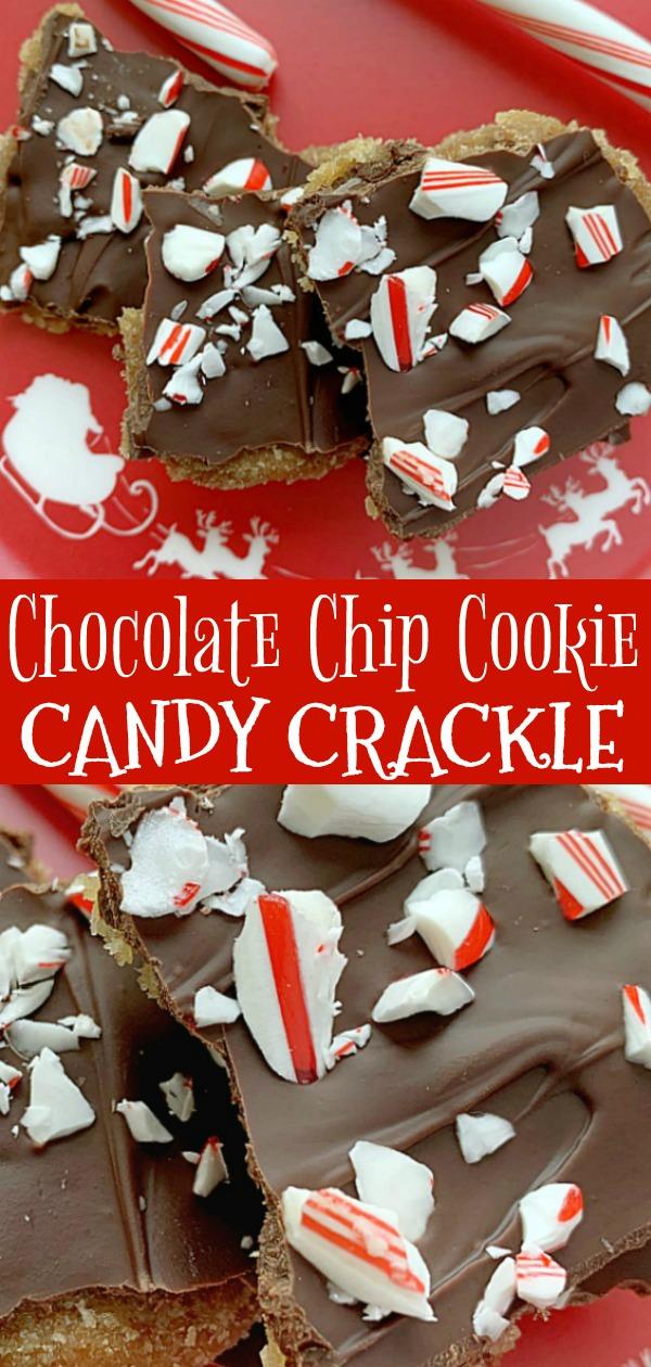 Chocolate Chip Cookie Candy Crackle | Foodtastic Mom #ad #chocolatechipcookies #christmascookies #holidaycookies via @foodtasticmom